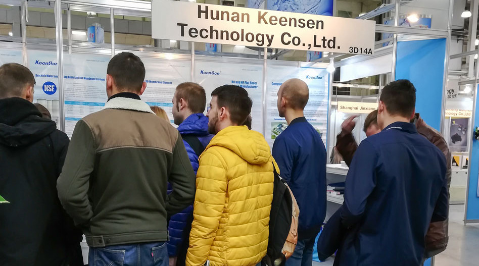 Keensen Technology Successfully Participated the ECWATECH 2018 in Russia
